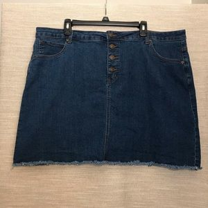 ModCloth Karaoke Seamstress Denim Skirt